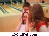 Stock photo  of a girls bowling