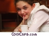 Stock photo  of a girl having cold drink