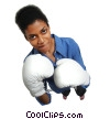 Stock photo  of a female boxer