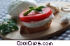 boconccini cheese, tomato and garlic Stock photo