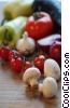 tomatoes, sweet peppers, mushrooms & garlic clip art