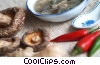 Chinese soup with mushrooms, peppers and ginger Stock photo