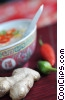 Stock photo  of a Chinese soup with peppers and
