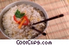 Chinese rice bowl with chop sticks Stock photo