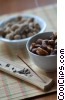 assorted nuts with incense Stock photo