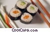 salmon and cucumber sushi Stock photo