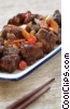 sweet and sour beef dish Stock photo