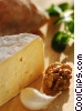 French cheese with walnuts, garlic, & spices Stock photo