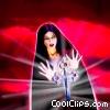 Female Vampire with Crucifix Stock photo