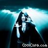 Female Vampire Ready to Pounce Stock photo