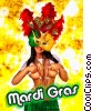 Stock photo  of a Sexy Mardi Gras Babe