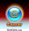 Stock Art image  of a Cancer Zodiac