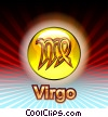 Stock Art graphic  of a Virgo Zodiac