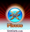 Stock Art picture  of a Pisces Zodiac