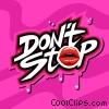 Don't Stop Fine Art graphic