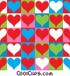 Stock Art image  of a Checkerboard Hearts