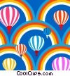 Stock Art picture  of a Hot Air Balloons and Rainbows