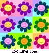 Stock Art graphic  of a Smiling Daisies