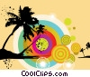 Stock Art graphic  of a Summer Beach