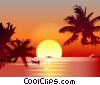 Fine Art illustration  of a Tropical Sunset