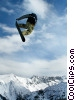 Stock photo  of a Freestyle Snowboarding