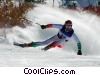 Alpine Downhill Stock photo