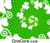 Stock Art graphic  of a Shamrock Swirl