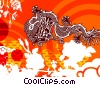 Fine Art graphic  of a Chinese Dragon