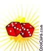 Fine Art illustration  of a Roll of the Dice