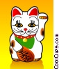 Maneki-Neko Lucky Cat Stock Art picture