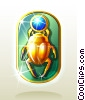 Stock Art graphic  of a Egyptian Scarab Amulet
