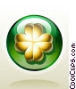 Golden Four-Leaf Clover Stock Art graphic