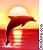 Stock Art graphic  of a Dolphin Jumping