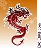 Fine Art illustration  of a Tribal Dragon