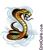 Hissing Cobra Stock Art graphic
