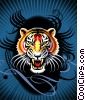 Fine Art graphic  of a Tribal Tiger's Roar