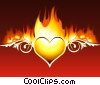 Stock Art image  of a Love on Fire