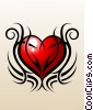 Stock Art graphic  of a Tribal Love Tattoo