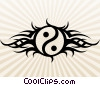 Stock Art graphic  of a Tribal Yin Yang Tattoo