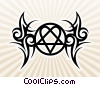 Tribal Heart and Pentagram Tattoo Stock Art picture
