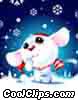Cutest Snow Mouse Ever! Stock Art graphic