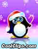 Stock Art graphic  of a Penguin Bearing Gifts