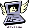 Computer with E-mail Vector Clip Art picture