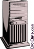 Vector Clipart image  of a Computer tower