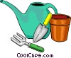 Vector Clipart graphic  of a Watering cans