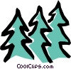 Fir trees Vector Clip Art graphic