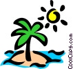Deserted island Vector Clip Art picture