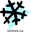 Vector Clipart graphic  of a Snowflake