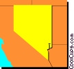 Vector Clip Art graphic  of a Nevada