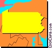 Vector Clip Art image  of a Pennsylvania